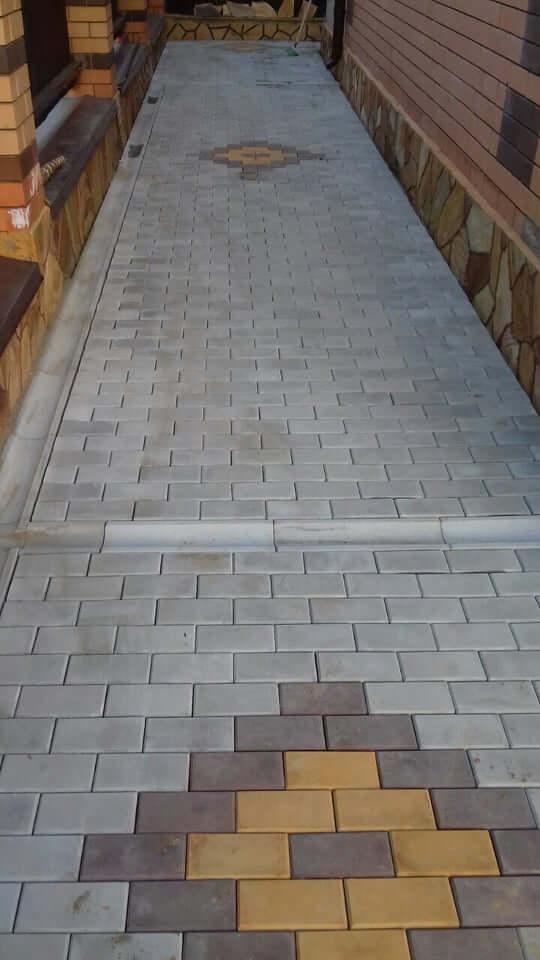 Укладка тротуарной плитки в Дубне